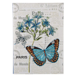 "Botanical Butterfly Luxury Flexible Cover Paper Notebook 8.5""x6"" Inches (A5)"