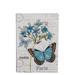 "Botanical Butterfly Luxury Flexible Cover Paper Notebook 7""x5"" Inches (B6)"