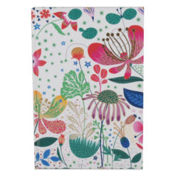 "Botanical Asteracea Hard Case Cover Paper Notebook 8.5""x6"" Inches (A5)"