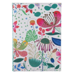"Botanical Asteracea Luxury Flexible Cover Paper Notebook 8.5""x6"" Inches (A5)"
