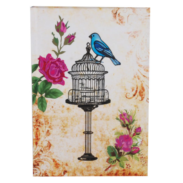 """Vintage Bliss Hard Case Cover Paper Notebook 8.5""""x6"""" Inches (A5)"""