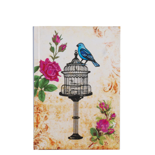 """Vintage Bliss Hard Case Cover Paper Notebook 7""""x5"""" Inches (B6)"""