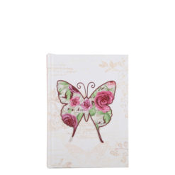 "Vintage Butterfly Hard Case Cover Paper Notebook 6""x4"" Inches (A6)"