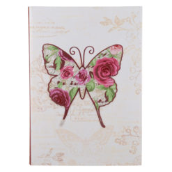 "Vintage Butterfly Luxury Flexible Cover Paper Notebook 8.5"" X 6"" Inches (A5)"