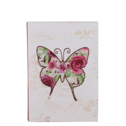 "Vintage Butterfly Luxury Flexible Cover Paper Notebook 7""x5"" Inches (B6)"