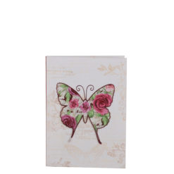 "Vintage Butterfly Luxury Flexible Cover Paper Notebook 6""x4"" Inches (A6)"