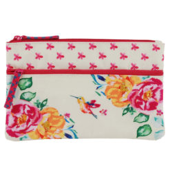 Floral Delight Two Zipper Pouch