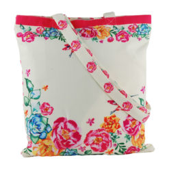 Floral Delight Canvas Tote Bag