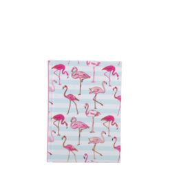 "Flamingo Carnations Hard Case Cover Paper Notebook 6""x4"" Inches (A6)"