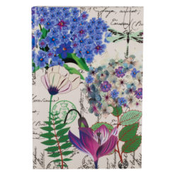 "Botanical Cerise Queen Hard Case Cover Paper Notebook 8.5""×6"" Inches (A5)"