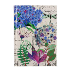 "Botanical Cerise Queen Hard Case Cover Paper Notebook 7""×5"" Inches (B6)"