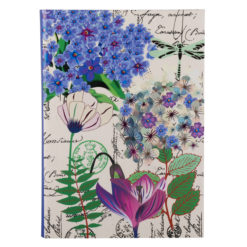 "Botanical Cerise Queen Luxury Flexible Cover Paper Notebook 8.5""×6"" Inches (A5)"