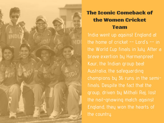 The Iconic Comeback of the Women Cricket Team