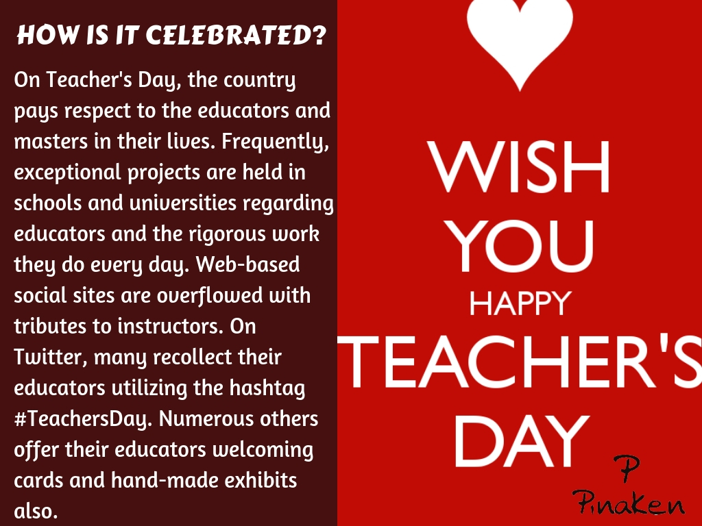 celebrated as Teacher's Day in India