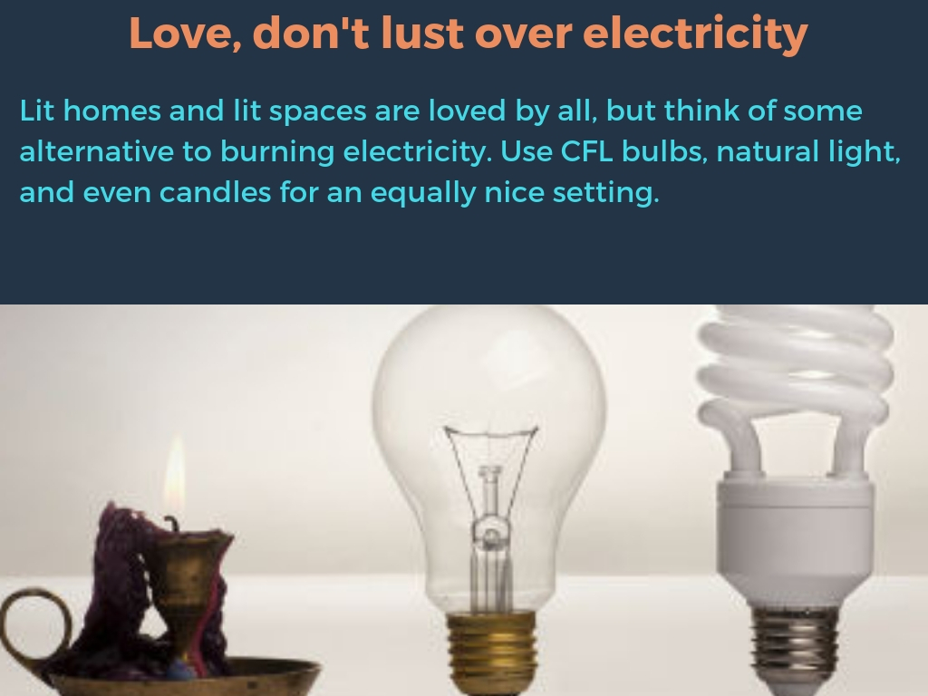Love, don't lust over electricity
