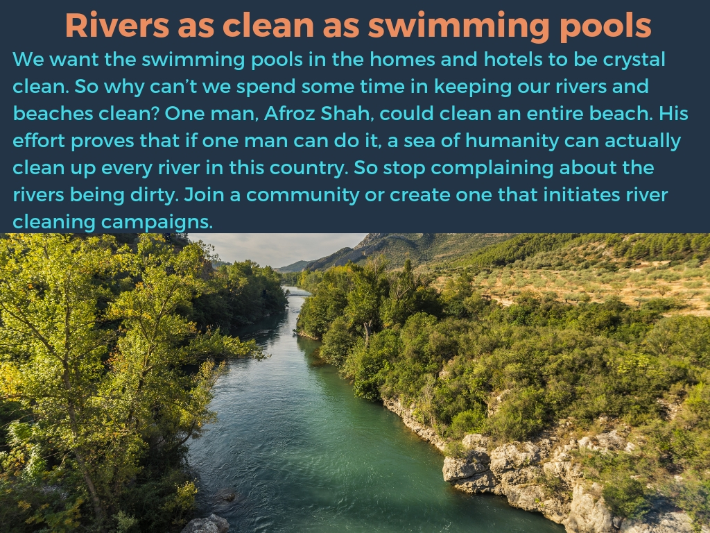 Rivers as clean