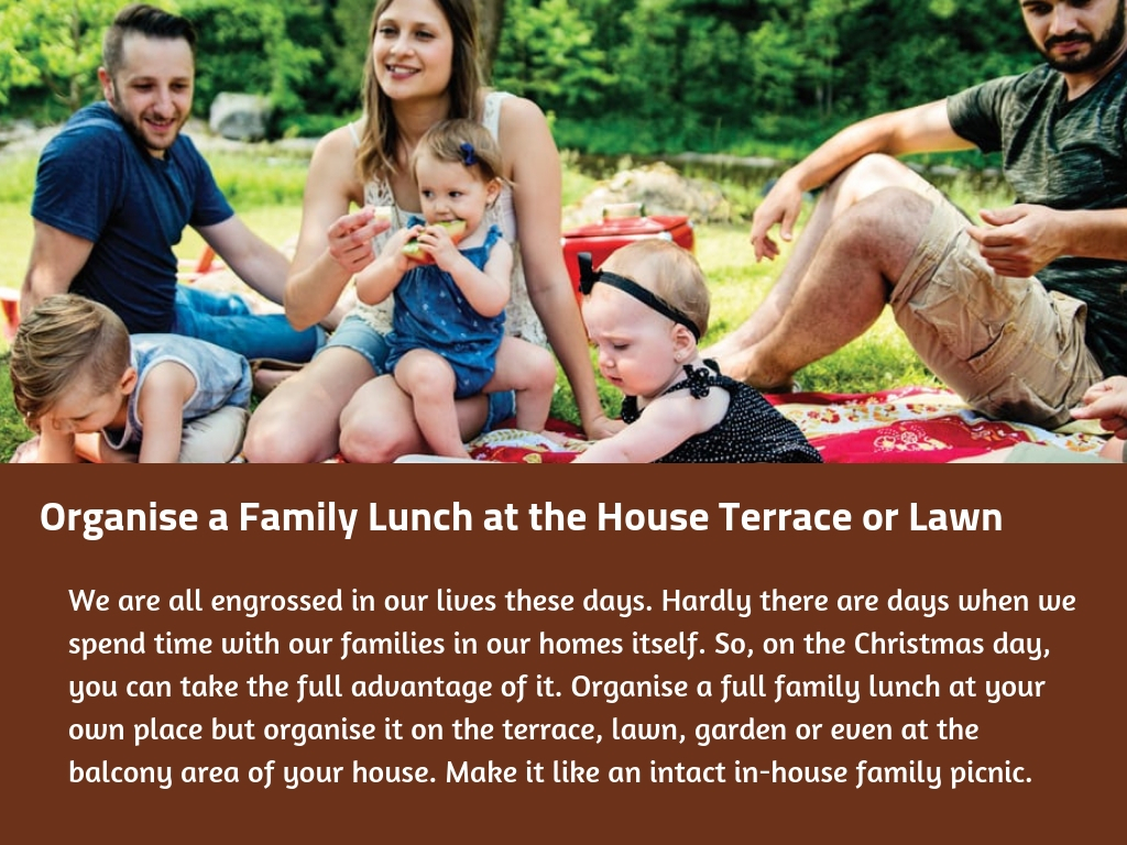 Organise a Family Lunch at the House Terrace or Lawn