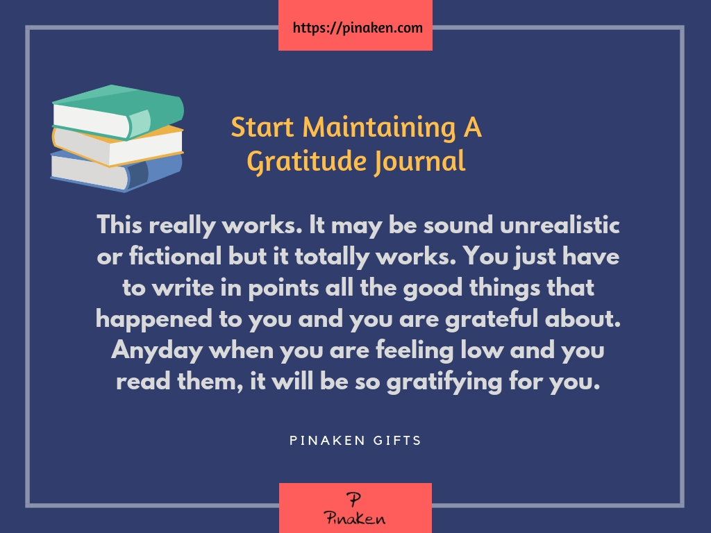 Start Maintaining A Gratitude Journal